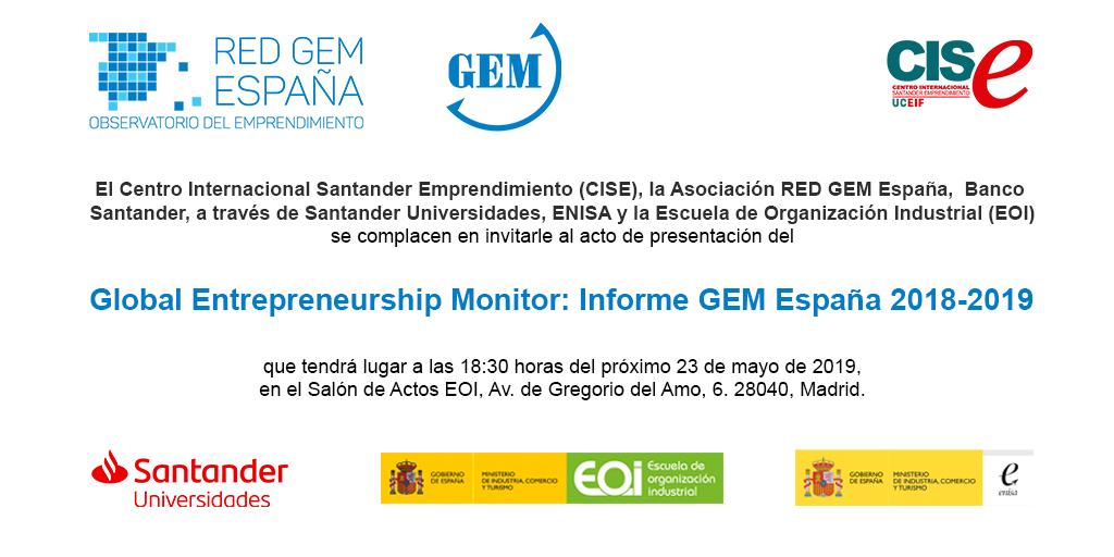 Presentación del Informe GEM 2018/2019
